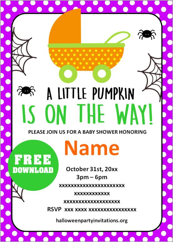Free halloween baby shower invitations