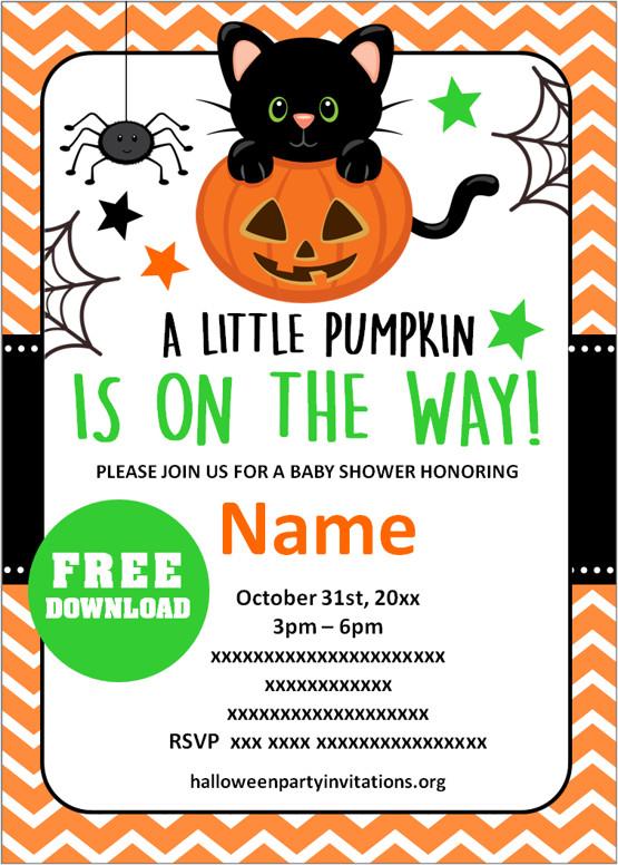 halloween themed baby shower invitations