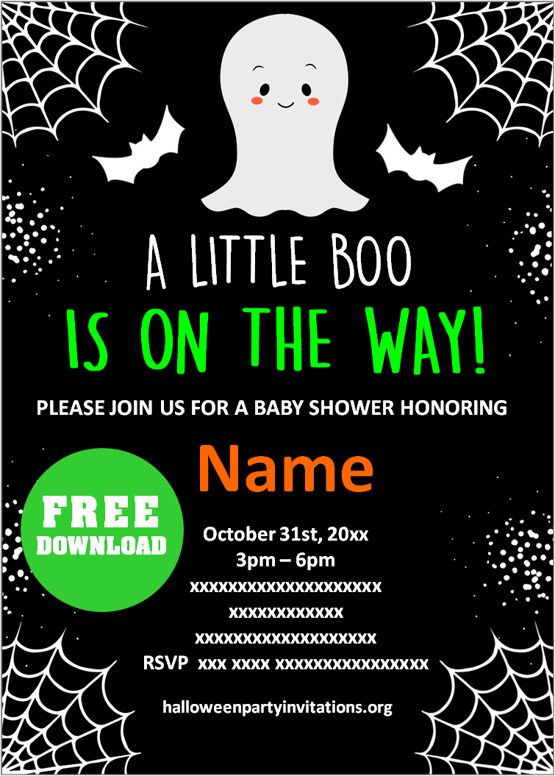 Free Halloween Baby Shower Invitations