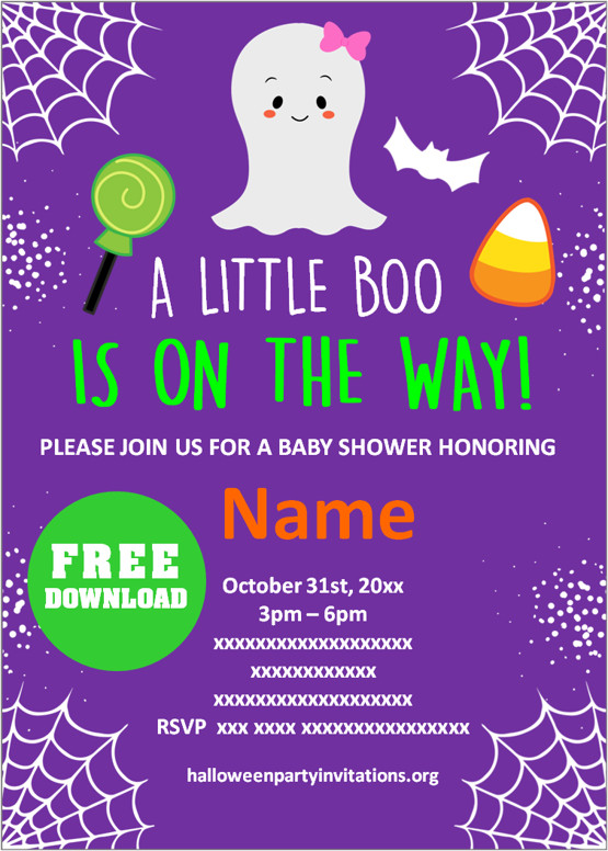Baby Shower Halloween invitation