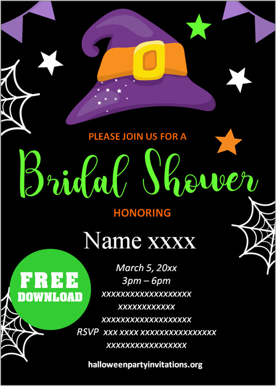 halloween bridal shower invitations