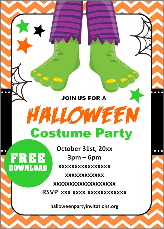 free printable halloween party invitations