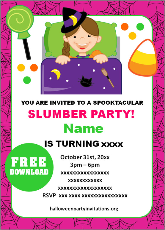 halloween sleepover invitations