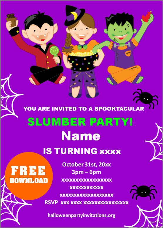 halloween sleepover invitations