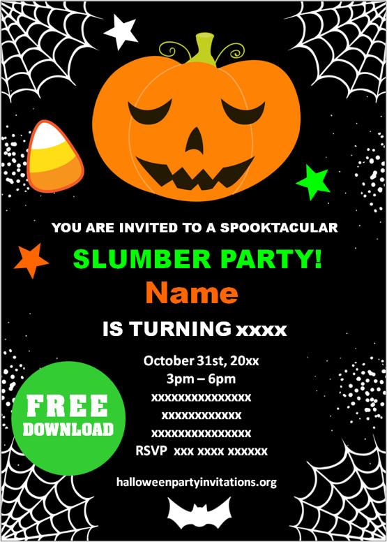 kids halloween party invitations