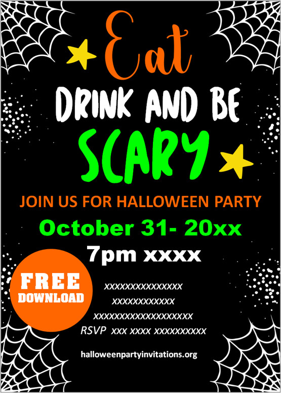scary halloween invitations