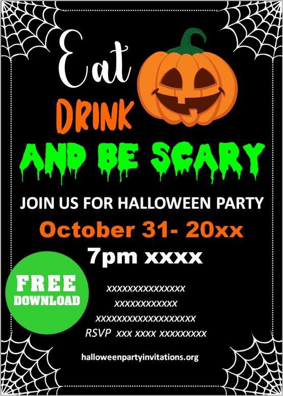 free printables halloween invitations