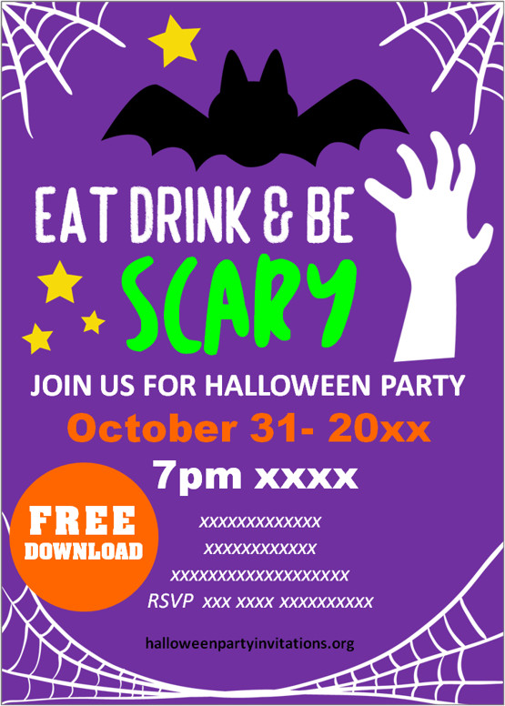 scary halloween party invitations