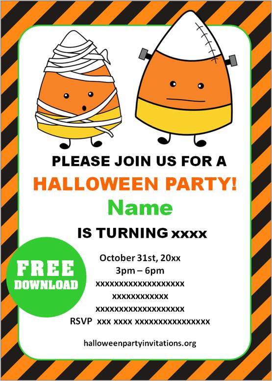 kids halloween invitations