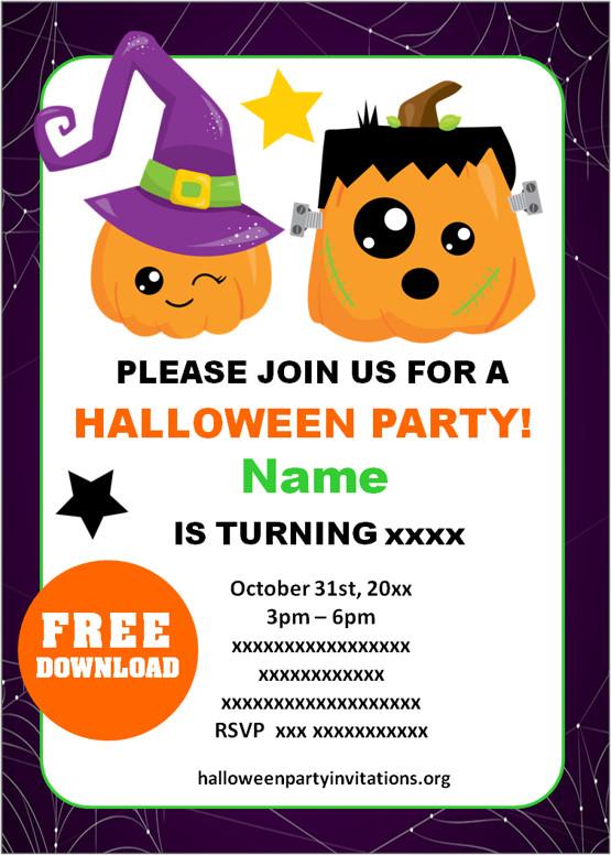 halloween birthday party invitations