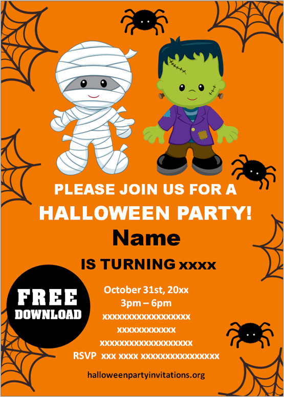 halloween party invitations templates free